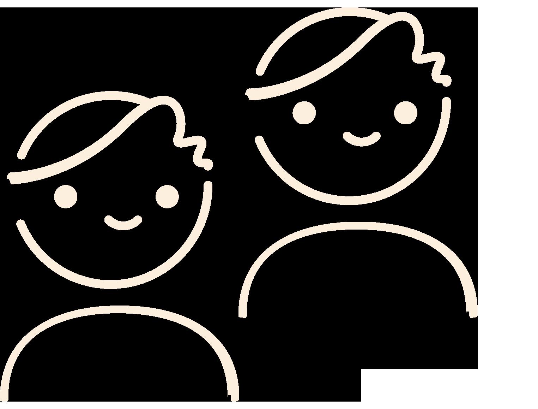 Niños y docentes